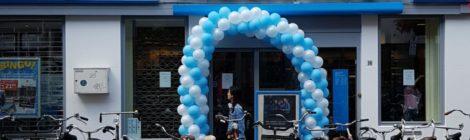 Ballonnenboog bij de Albert Heijn Voorstraat Utrecht