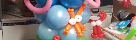 Ballonnenzuil met thema Ariël Disney voor groot feest in Laren